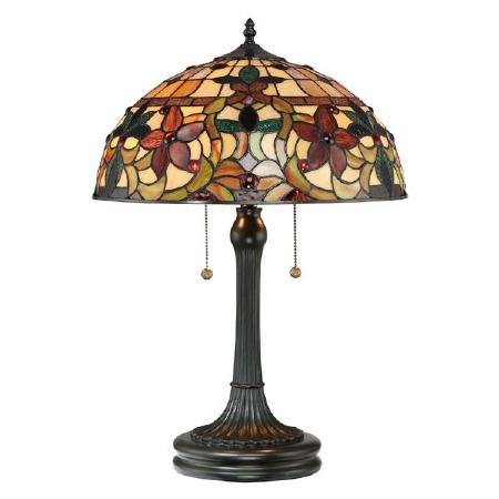 Quoizel Kami Tiffany Table Lamp Vintage Bronze