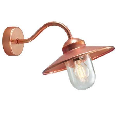 Elstead Karlstad Outdoor Wall Light Copper