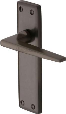 Heritage Kendal Latch Door Handles KEN6810 Matt Bronze