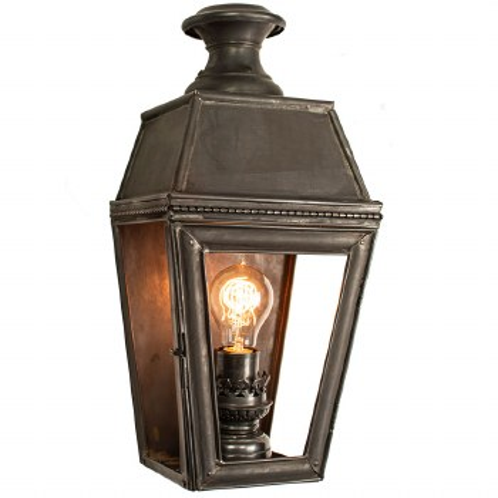 Kensington Passage Flush Outdoor Wall Lantern Single Light, Antique Brass