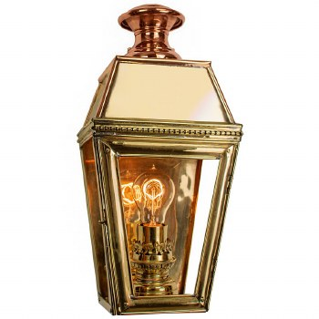 Kensington Passage Flush Outdoor Wall Lantern Single Light Polished Brass