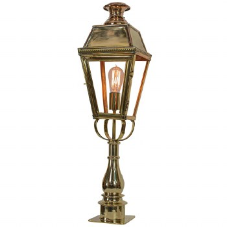 Kensington Tall Pillar Lamp Polished Brass Unlacquered