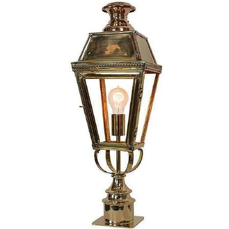 Kensington Short Pillar Lamp Polished Brass Unlacquered