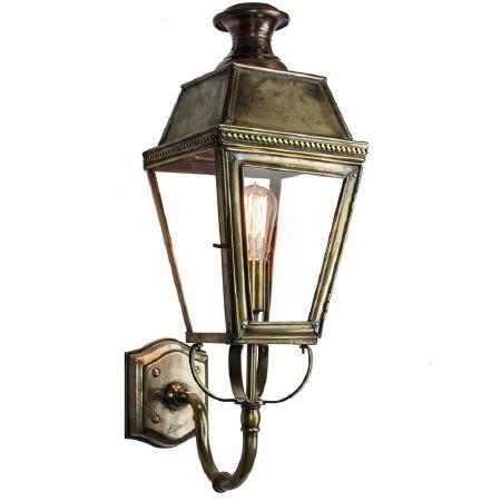 Kensington Outdoor Wall Lantern Renovated Brass