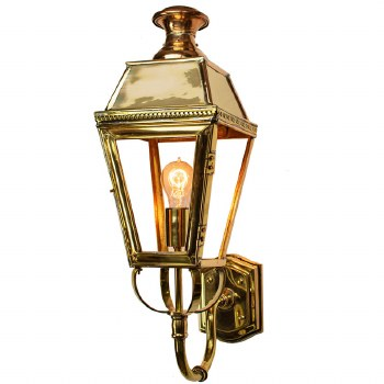 Kensington Outdoor Wall Lantern Polished Brass