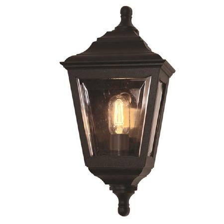 Elstead Kerry Flush Outdoor Wall Light Lantern Black