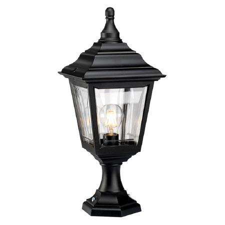 Elstead Kerry Pedestal Lantern Light Black