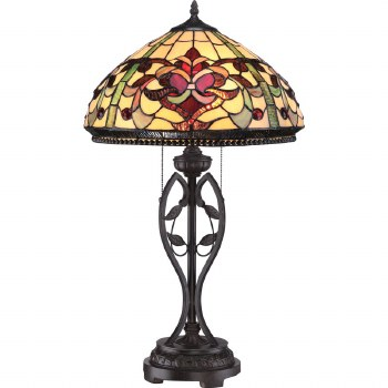 Quoizel Kings Pointe Tiffany Table Lamp