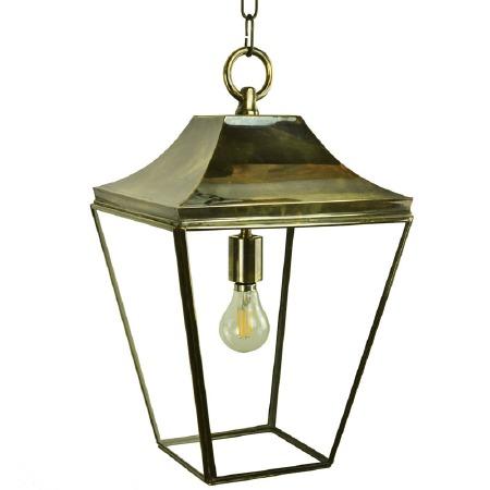 Knightsbridge Hanging Pendant Medium Lantern Light Antique