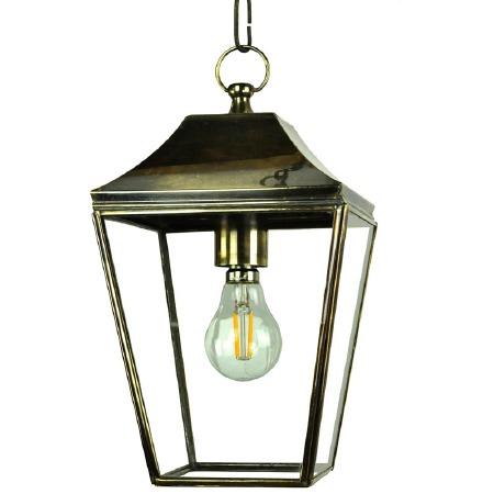 Knightsbridge Hanging Pendant Small Lantern Light Antique