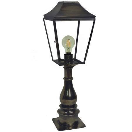 Knightsbridge Outdoor Pillar Lamp Tall Antique
