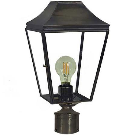 "Knightsbridge Lamp Post Head to suit 2"" dia. Antique Brass"