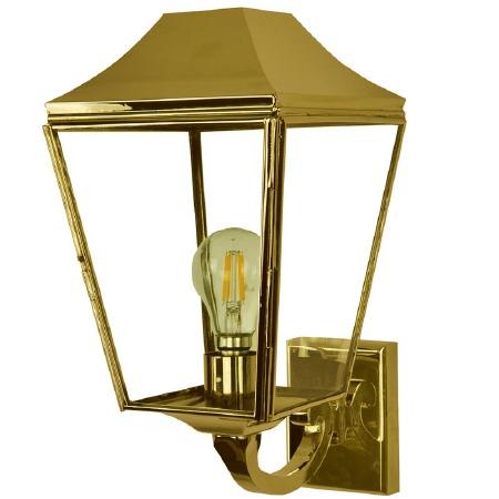 Knightsbridge Outdoor Wall Lantern Polished Brass