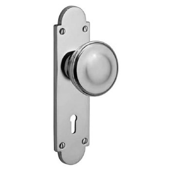 Victorian Constable 604K Door Knobs Polished Chrome