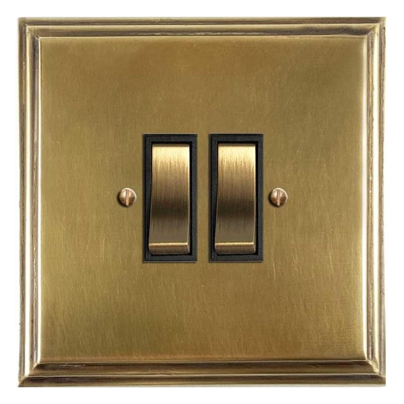Classic,Deco rectangular plate bakelite single switch,brown 2 way 61B