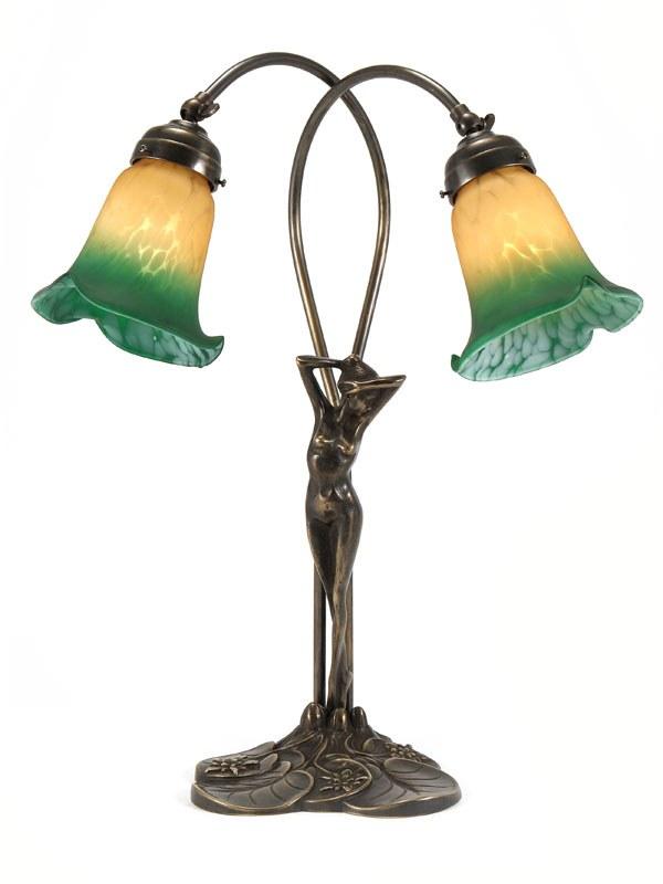 Eliza Art Nouveau Double Table Lamp