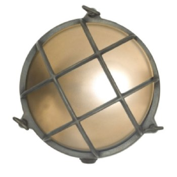 Large Round Bulkhead Outdoor Flush Wall Light