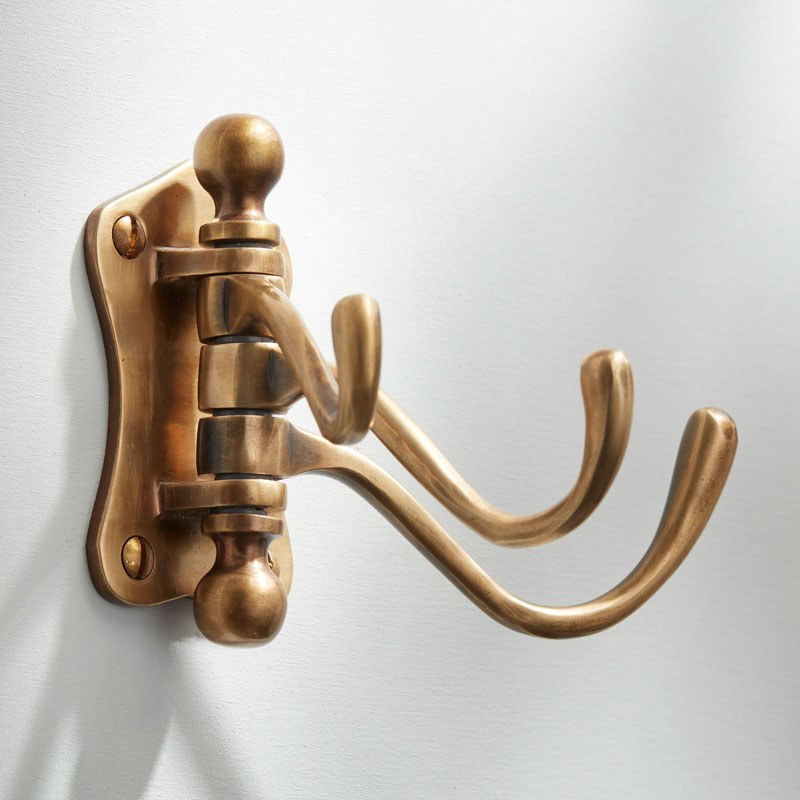 Triple Door Hook Antique Satin Br