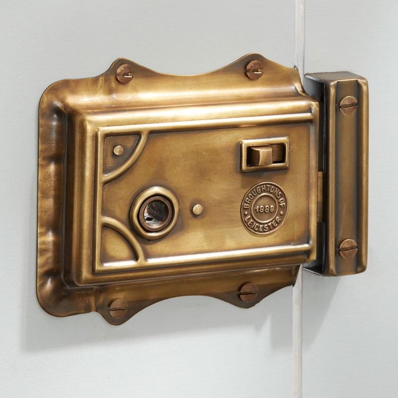 "Large Victorian Copper Finger Plate Push Door Handle Antique Old Vintage  18/"""