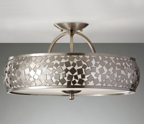 Feiss Zara Semi Flush Ceiling Light Broughtons Lighting Ironmongery