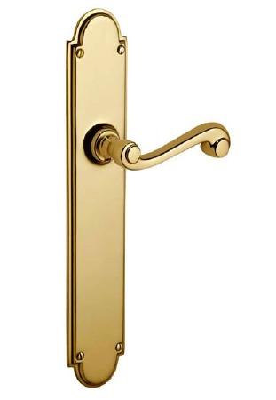 Victorian Constable 609/1 Door Handles Polished Brass Unlacquered