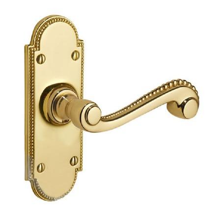 Regency Princess 950 Door Handles Polished Brass Unlacquered