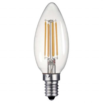 Candle Bulb Clear SES/E14 4W LED Dimmable