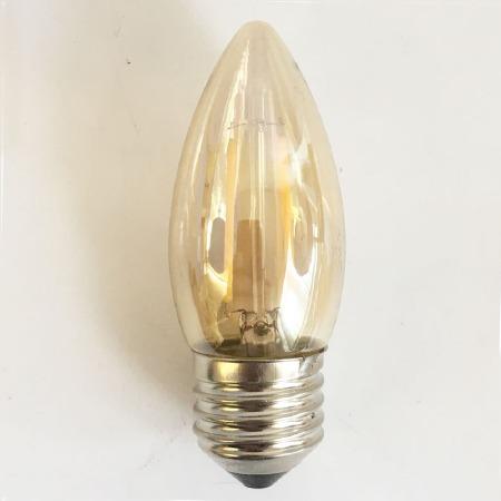 LED Decilately Tinted Candle Bulb ES 1 Watt