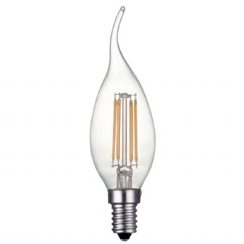 LED SES Twisted Candle Bulb 4W Dimmable