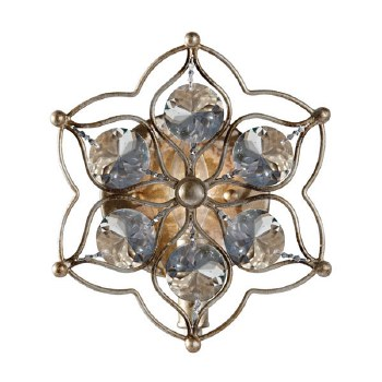 Feiss Leila Single Wall Light Burnished Silver