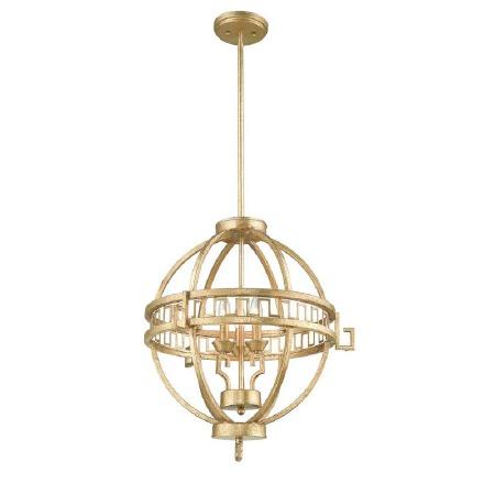 Gilded Nola Lemuria 3 Light Globe Pendant