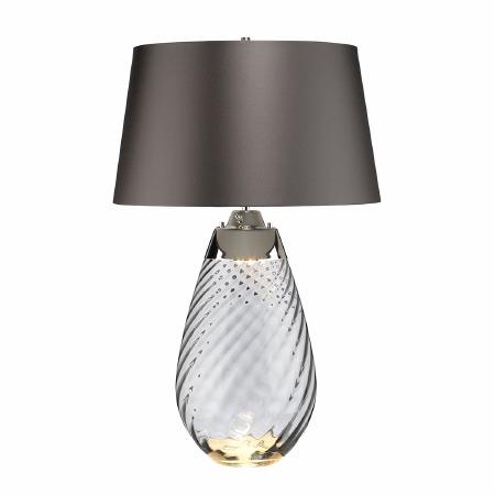 Elstead Lena Large Dual Light Smoke Glass Table Lamp with Slate Shade