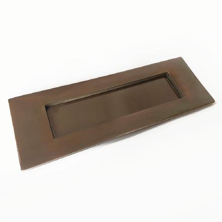 Aston Letter Plate 254mm Polished Solid Bronze Antiqued