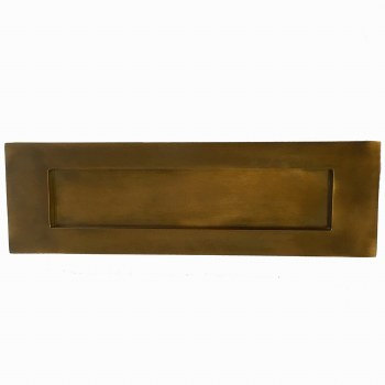 Aston Letter Plate 305mm Antique Brass Unlacquered