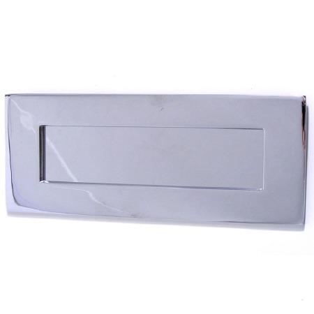 "Croft Letter Plate 1635 12""x4.25""  Polished Chrome"