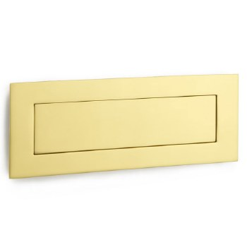 Croft Flush Letter Plate 5000 254mm Polished Brass Unlacquered