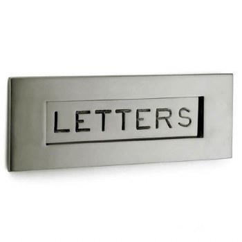 Croft Letter Plate 6355 305mm Polished Nickel