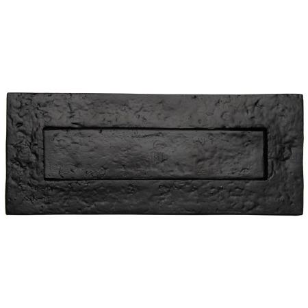 Heritage Tudor Letter Plate TC365 254mm Black Ironwork