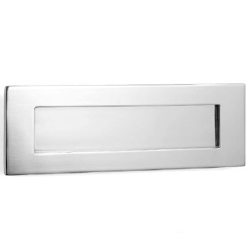 Samuel Heath Letter Plate Satin Chrome 380mm
