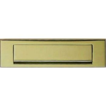 Letter Plate Stainless Brass 254mm
