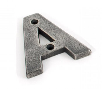 From The Anvil Letter A Antique Pewter