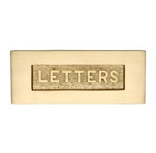Heritage Letter Plate V845 Satin Brass