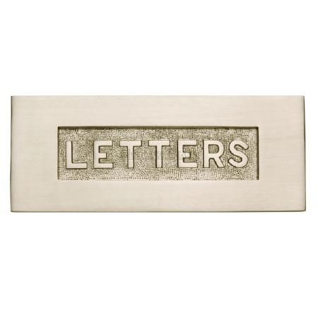 Heritage Letter Plate V845 Satin Nickel