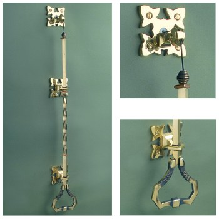 Lichfield Door Bell Pull Renovated Brass