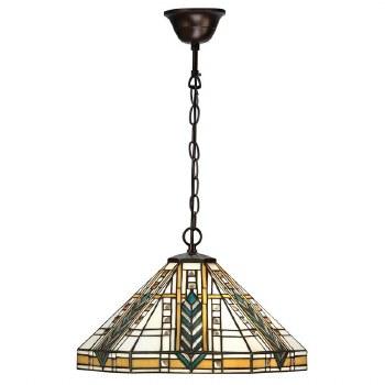 Interiors 1900 Lloyd Tiffany Pendant Lamp Antique Bronze