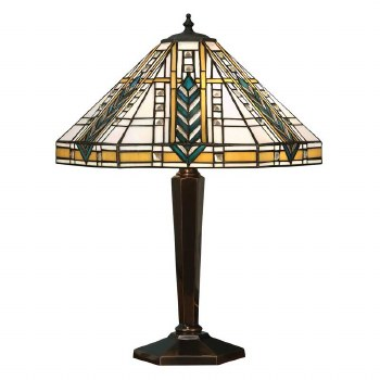 Interiors 1900 Lloyd Tiffany Table Lamp Antique Brass