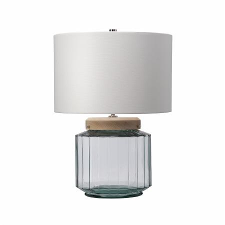 Elstead Luga 1 Light Table Lamp Natural Glass