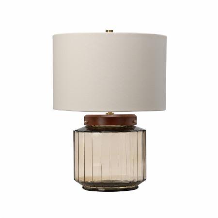 Elstead Luga 1 Light Table Lamp Smoked Glass