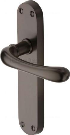 Heritage Luna Latch Door Handles LUN5310 Matt Bronze
