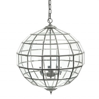 Libra Lyme Bevelled Globe Pendant Light